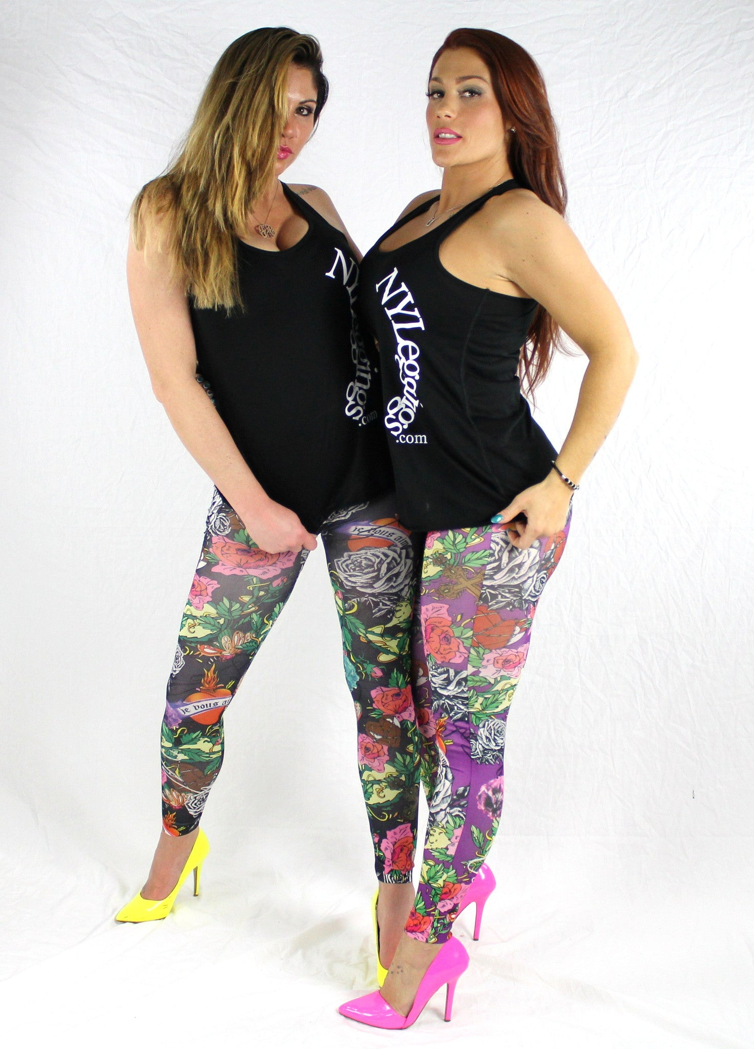 PURPLE ROSES - NYLeggings.com  - 5