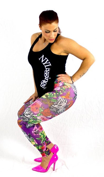 PURPLE ROSES - NYLeggings.com  - 4