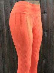 Python Orange Workout Tights