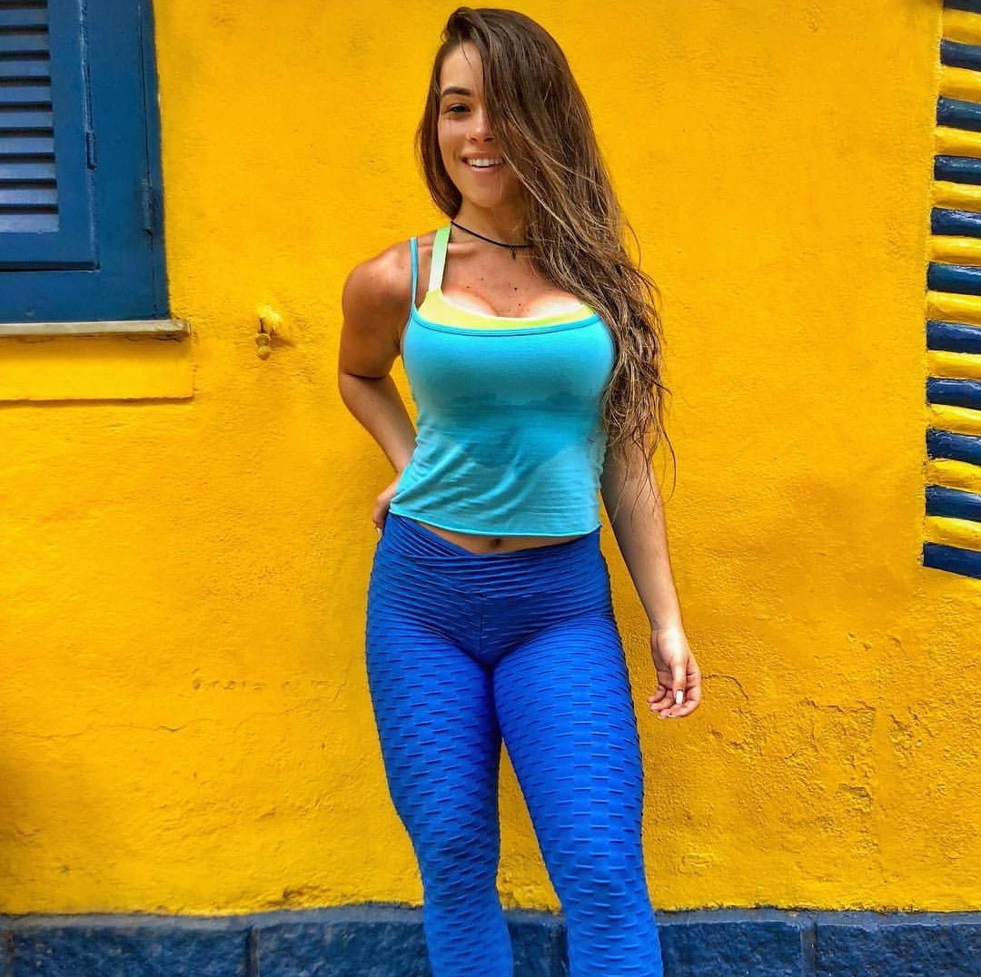 BUBBLE ROYAL BLUE-V WAIST (SCRUNCH) - NYLeggings.com