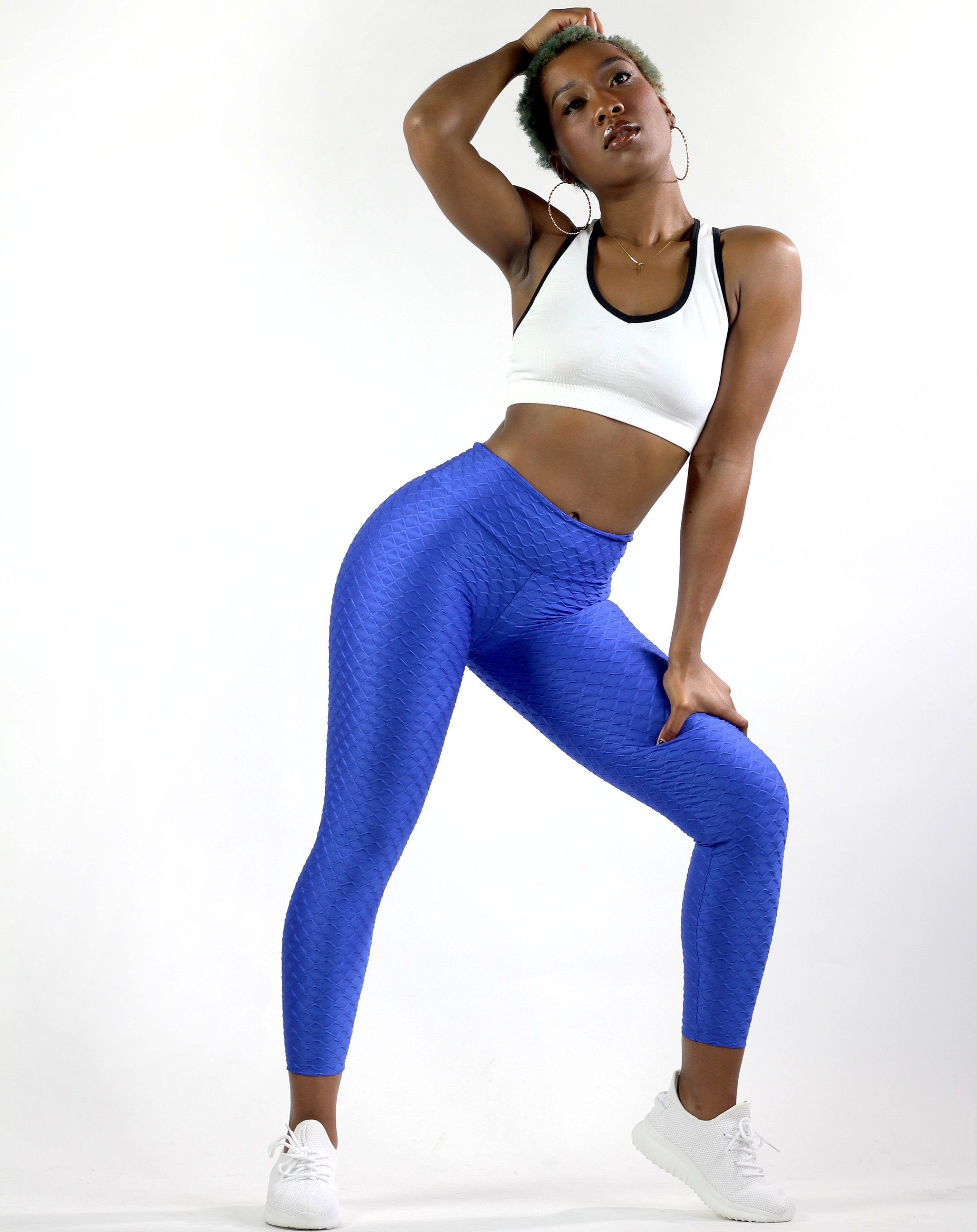 Wave Royal Blue Tights For Women