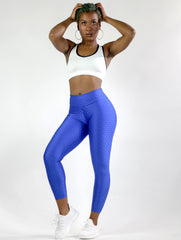 Wave Royal Blue Yoga Pants