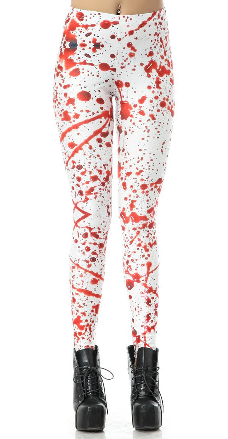 RED SPLATTER - NYLeggings.com