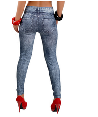 FAUX DENIM LEGGINGS - NYLeggings.com