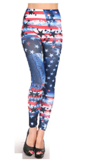 4th of July Workout Leggings