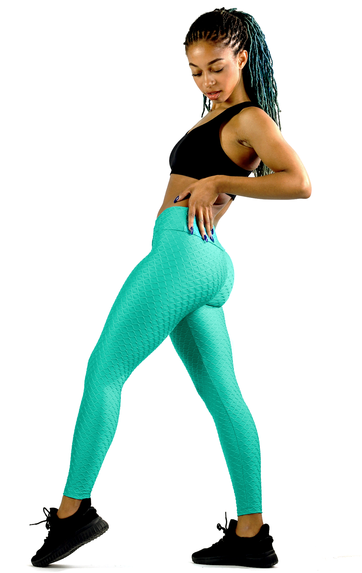 Wave Emarald Green Tights