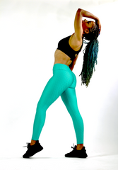 Wave Emarald Green Workout Pants