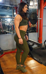 Python Green Army Leggings