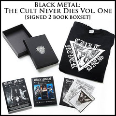 BLACK METAL: THE CULT NEVER DIES VOL. ONE 2-book signed boxset (inc. shirt, art, prints, deluxe box)