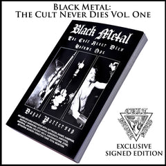 BLACK METAL: 5 SIGNED BOOK BUNDLE inc. EVOLUTION OF THE CULT - 5 signed books, patch & registered shipping  [Price all inclusive]
