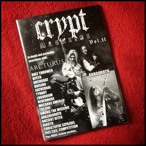 CRYPT MAGAZINE #2 zine (original copies from 2006)
