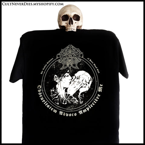 Back in stock: ABRUPTUM: 'Obscuritatem Advoco Amplectère Me' shirt (new design, limited numbers)