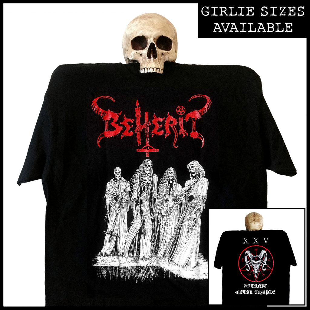 BEHERIT: 'Satanic Metal Temple (Oath Of Black Blood)' shirt / girlie shirt