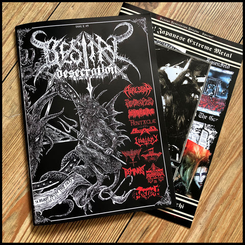 BESTIAL DESECRATION #5 fanzine (including second bonus zine)