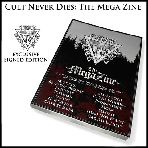CULT NEVER DIES THE MEGA ZINE book *SIGNED*
