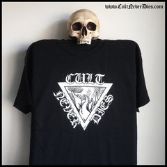 CULT NEVER DIES LOGO 2017 shirt (black / grey / red)