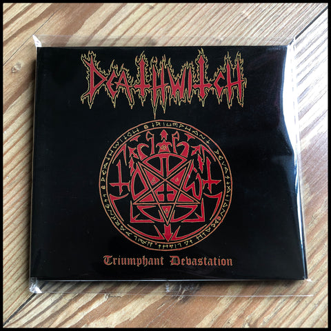DEATHWITCH: Triumphant Devastation CD digipack (sealed, classic 90s black thrash, bonus tracks)