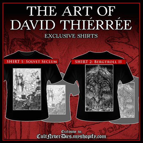 NEW: Exclusive DAVID THIÉRRÉE art shirts
