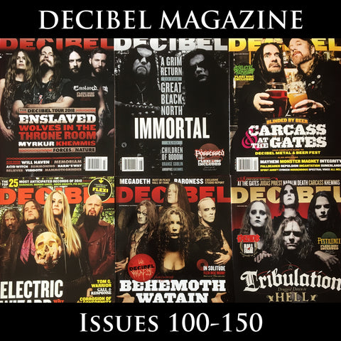 DECIBEL magazine (multiple issues from 100-150) with flexi discs where specified