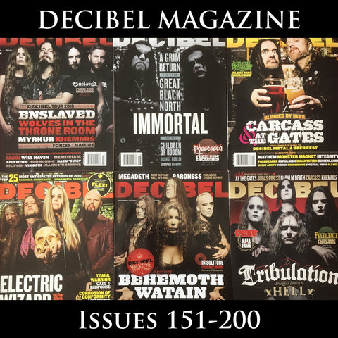 DECIBEL magazine (multiple issues from 151-200) with flexi discs where specified