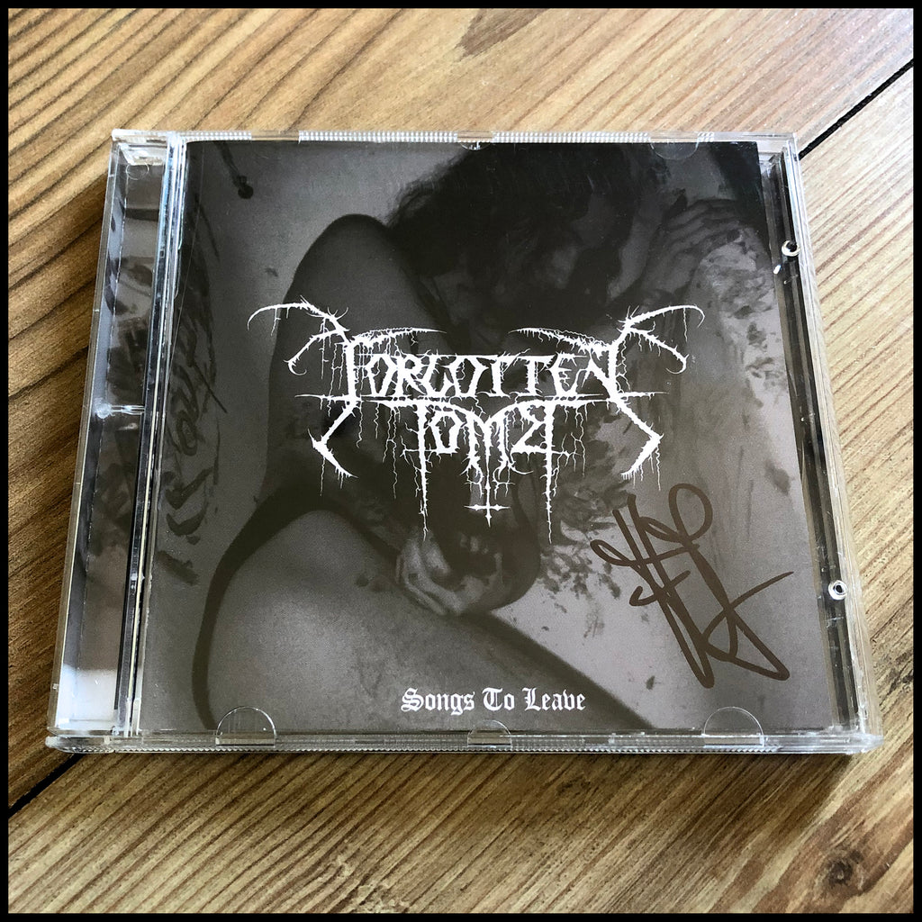 FORGOTTEN TOMB: Songs To Leave CD *Signed by Herr Morbid* (limited numbers)