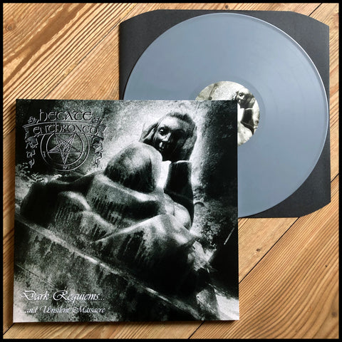 HECATE ENTHRONED: Dark Requieums and Unsilent Massacre LP (grey vinyl, gatefold sleeve)