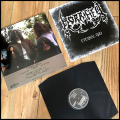 HORRIFIED: Eternal God / Prophecy Of Gore LP (cult 90s Greek atmospheric death metal)