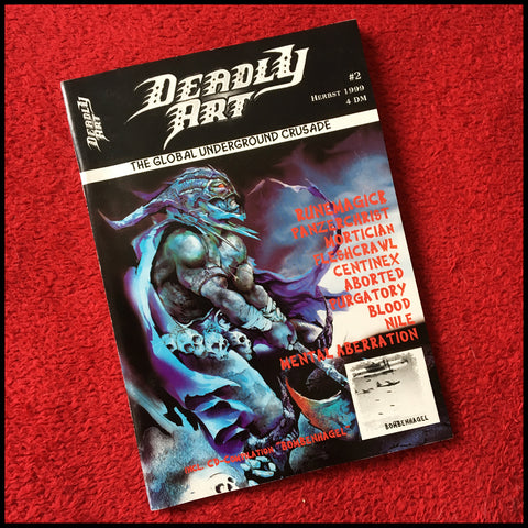 NEW: DEADLY ART #2 zine plus CD ***GERMAN LANGUAGE*** (original copies from 1999)