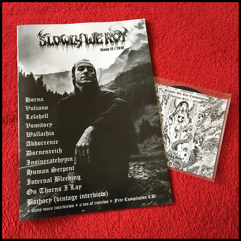 NEW: SLOWLY WE ROT #12 zine (and CD)