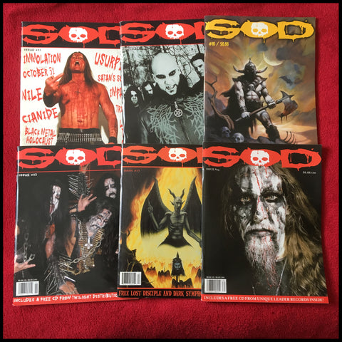 NEW: S.O.D. (Sounds Of Death) magazine (multiple issues, all unread and with free CDs)