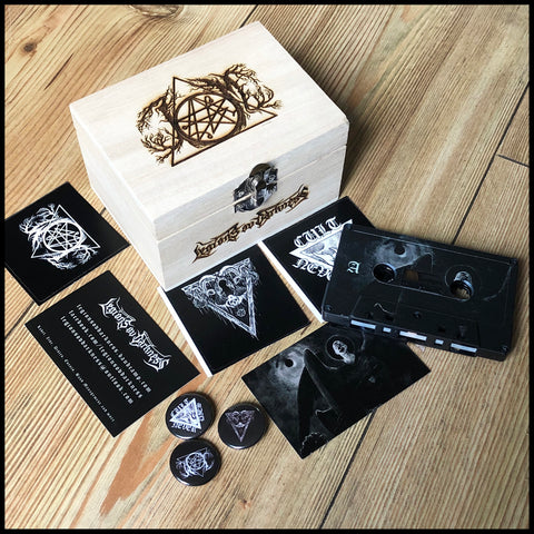 ISKALDE MORKET: Metaphysics of Mass Murder - engraved cassette boxset (avantgarde BM, limited to 50 copies)