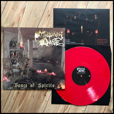 MORTUARY DRAPE / NECROMASS: Dance Of Spirits / Ordo Equilibrium Nox LP (red vinyl)