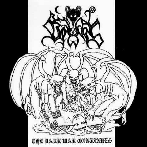 BESTIAL SUMMONING: The Dark War Continues (classic bestial black metal with bonus tracks, sealed)