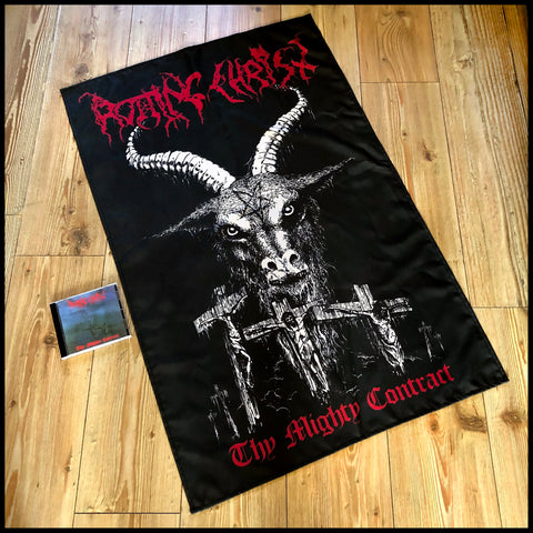 ROTTING CHRIST: Thy Mighty Contract large flag / textile poster (mk2)
