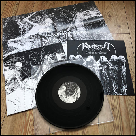 RAVENCULT: Temples Of Torment LP  (Greek BM, includes poster and inner sleeve)