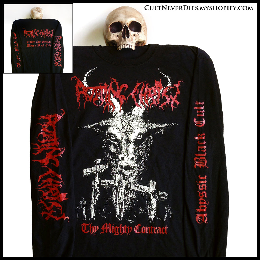 Restock (2nd Dec 2019) ROTTING CHRIST - 'Thy Mighty Contract' longsleeve shirt