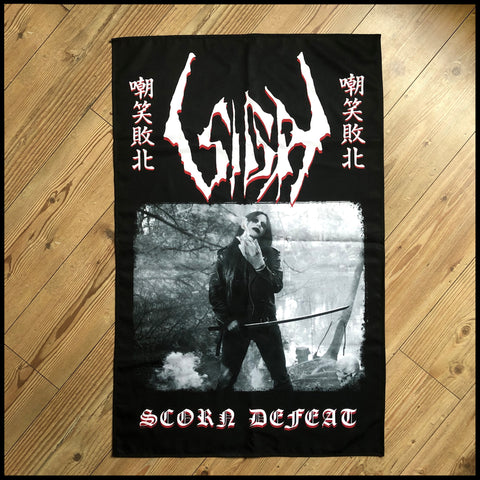 Pre-order [20th October] SIGH: Scorn Defeat 'Samurai' large flag / textile poster