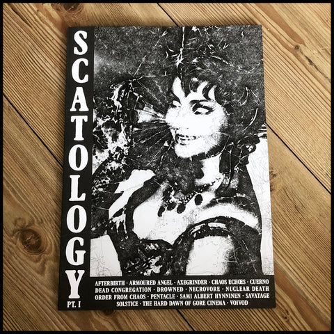 SCATOLOGY fanzine #1   (Necrovore, Order From Chaos, Voivod, Dead Congregation etc)