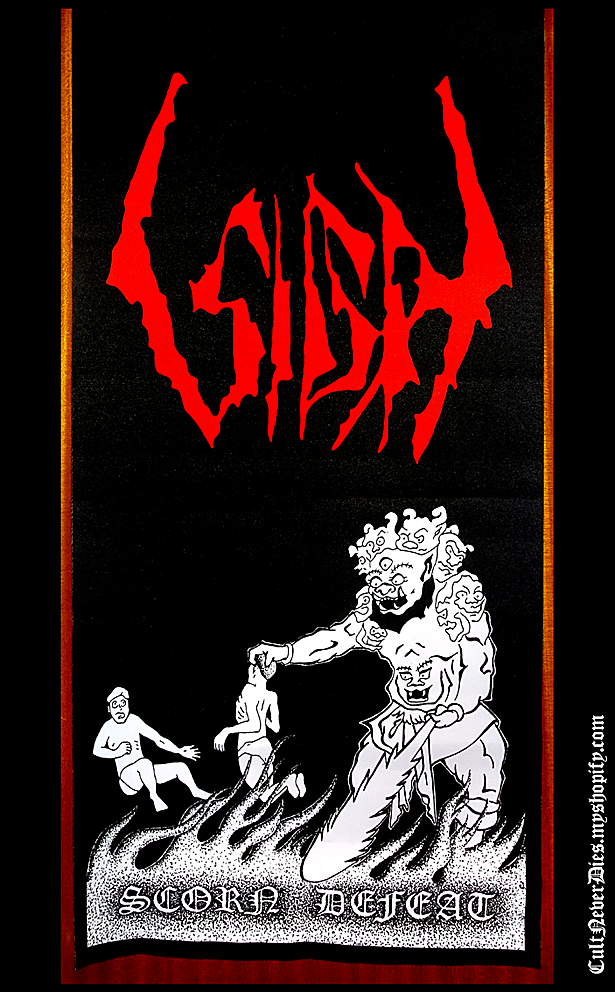 SIGH - 'Scorn Defeat' original art flag