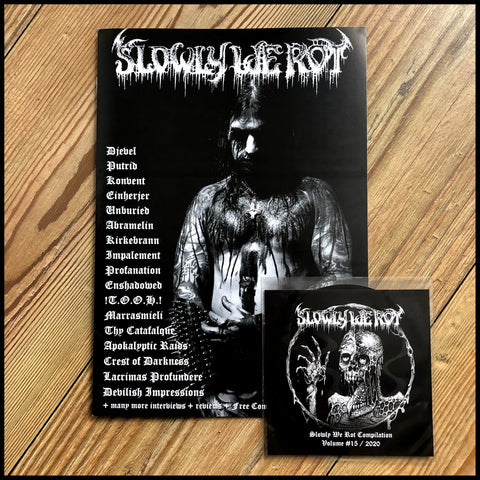 SLOWLY WE ROT #15 zine (and CD)