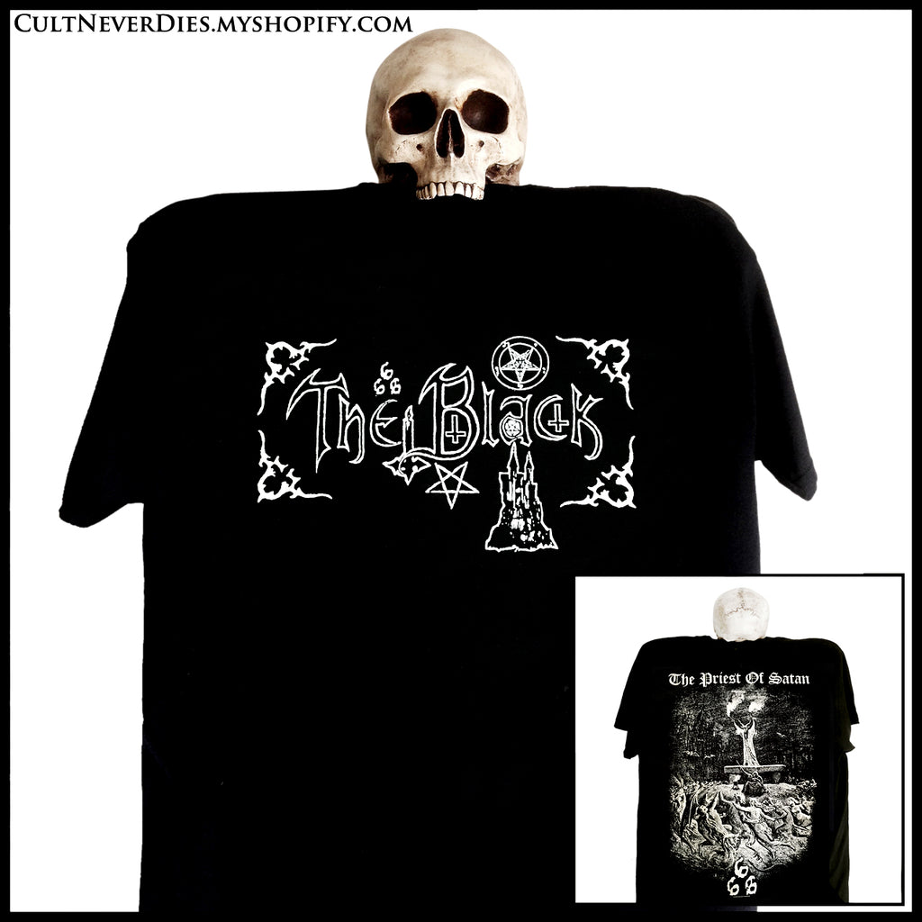 BACK IN STOCK: THE BLACK: 'The Priest Of Satan' shirt (limited numbers)