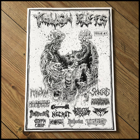 TOUGH RIFFS #7 zine  (Necrophagia, Skeletal Remains, Skinless, Pyrexia etc)