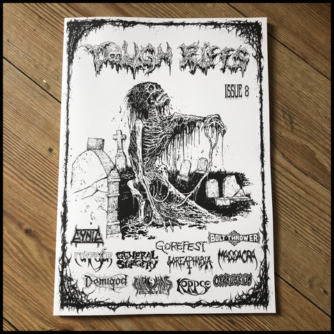 TOUGH RIFFS #8 zine. (Cynic, Gorefest, Incubus, Nirvana 2002, Bolt Thrower, Confessor etc)