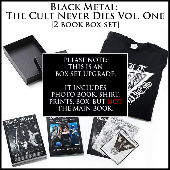 BLACK METAL: THE CULT NEVER DIES VOL. ONE  boxset upgrade [note: main book NOT included]