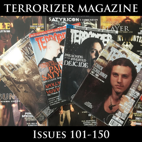 TERRORIZER magazine (multiple issues from 101-150) (regularly restocked)