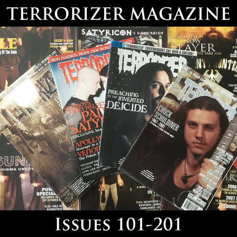 TERRORIZER magazine (multiple issues from 150-200)