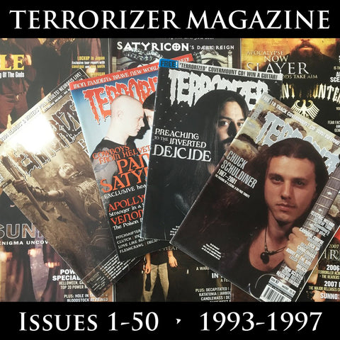 TERRORIZER magazine (multiple issues from 1-50) (regularly restocked)