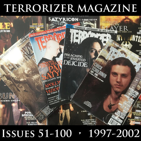 TERRORIZER magazine (multiple issues from 51-100) (regularly restocked)