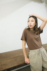 (SOLD OUT/可預購)霧感短袖T-shirt/啡