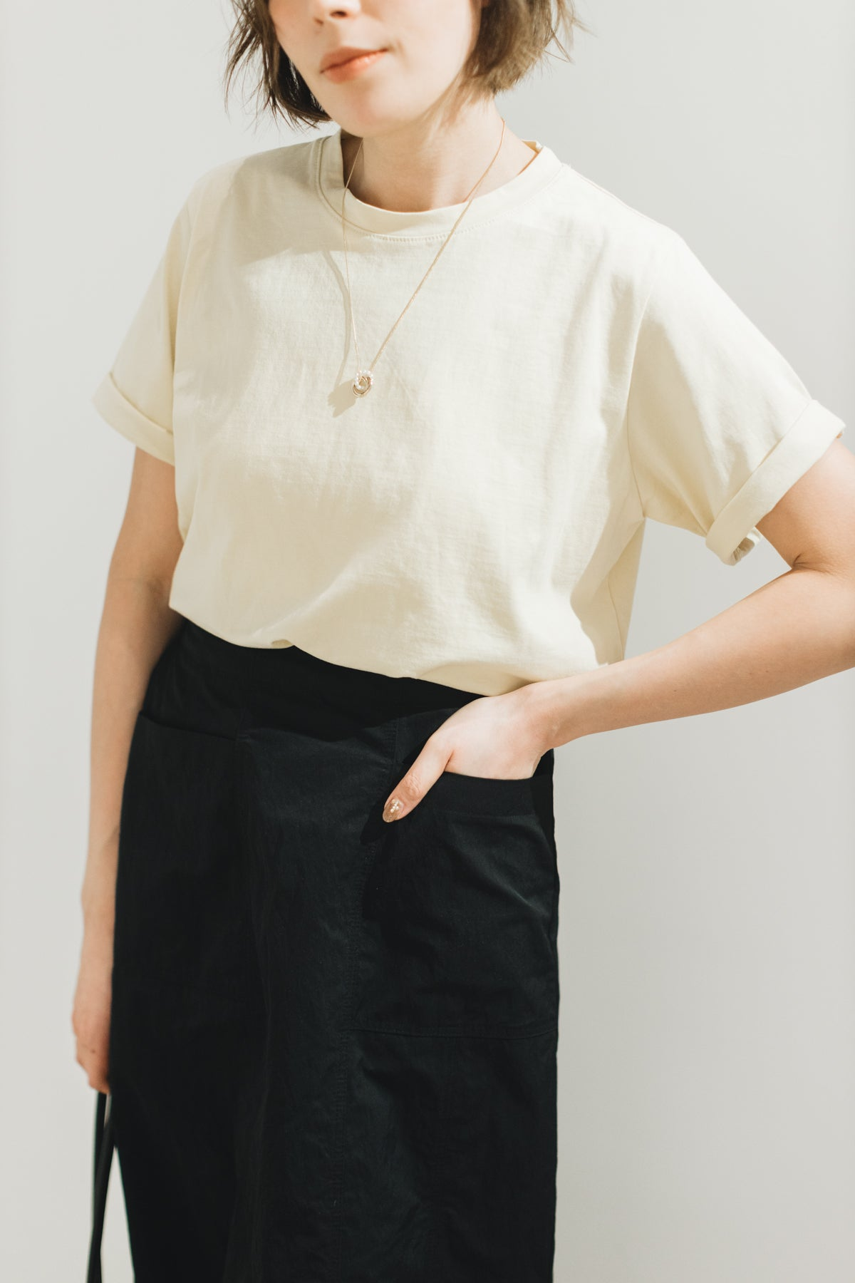 Relax Basic T-shirt/淺黃